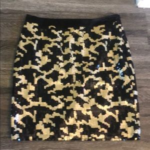NWOT BCBG Sequins mini skirt